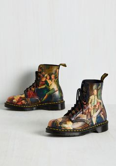 Off to a Good Art Leather Boot. Black leather boots as bold as these deserve d4d7e5376cf