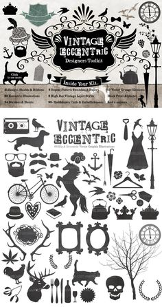 Vintage Eccentic - Designers Toolkit by MelsBrushes on Creative Market