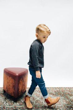 the Raglan Sweatshirt in Black - Mode Enfants Toddler Boy Fashion, Little Boy Fashion, Toddler Boy Outfits, Toddler Boy Style, Boys Style, Toddler Boys Clothes, Little Boy Style, Girl Style, Child Fashion