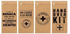 25 bolsitas kraft madera kit de emergencia antiresaca 9x19cm