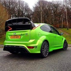 Ultimate Green body in Focus RS with big spoiler from WRC #Ford #Focus #RS #ST