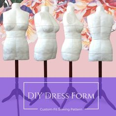 Bootstrap dress form tutorial: make your own custom dressform! It's easier than you might think! Diy Clothes Patterns, Pdf Sewing Patterns, Sewing Clothes, Dress Patterns, Diy Clothing, Clothing Styles, Diy Clothes Videos, Make Your Own Dress, Diy Dress