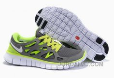 premium selection 27e09 1f20a Authentic Mens Nike Free Run 2 Dark Grey Volt Free Running Shoes