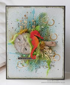 That's Life: From Sea To Shining Sea... Created by Emma Williams for Simon Says Stamp Monday Challenge Blog using Tim Holtz and Sizzix products