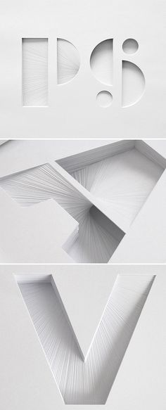 Layered paper typography by Bianca Chang | PS (145 sheets) | designvagabond