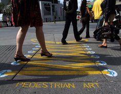 . Zebra Crossing, Community Art, Urban Art, Street Art, Art Pieces, Turkey, Kids Rugs, 3d, Board