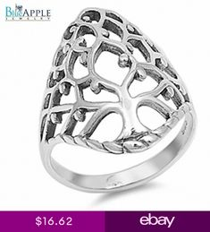 Tree of Life Oxidized Ring Solid 925 Sterling Silver Plain Simple Band Boyfriend Father Friend Fashion Jewelry Silver Gift Tree Of Life Ring, Tree Of Life Jewelry, Silver Jewelry Cleaner, Real Gold Jewelry, Diamond Jewelry, Where To Buy Silver, Mens Silver Necklace, Silver Earrings, Silver Necklaces