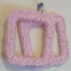 Crochet+Square+Earrings+are+stylish+and+lite+weight.+Crochet+Circle+Square+Earrings+are+made+with+yarn.