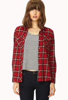 Rodeo Ready Plaid Shirt | FOREVER 21 - 2000071876