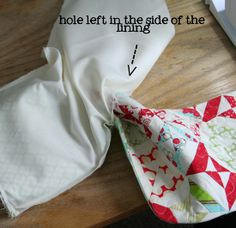Tutorial: A lined stocking with a cuff- Ok so this took me 2 days of staring at a stocking to figure out. My mind just doesn't work in the turn it inside out then right side in then right side out and do the hokey pokey kind of way. So here's a quickie tutorial mainly for my own sake so I remember how. If you want an actual pattern for the quilted parts, as well as templates for all the pieces, you can find a great pattern here.
