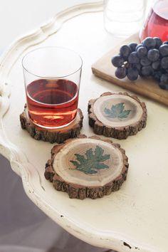 Leaf Coasters  - CountryLiving.com