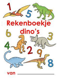 Werkblad rekenen: dino's Dinosaur Template, Worksheets For Kids, Activities, Math, Dinosaurs, World, Blue Prints, Kids Worksheets, Math Resources