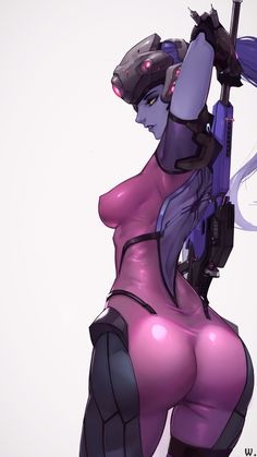 """Une balle, un mort."" - More at https://pinterest.com/supergirlsart/ #widowmaker #overwatch #fanart"