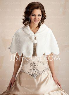 Wraps - $26.99 - Faux Fur Wedding Wrap (013021302) http://jjshouse.com/Faux-Fur-Wedding-Wrap-013021302-g21302