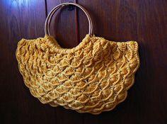 Honey crochet handbag patterned scales.