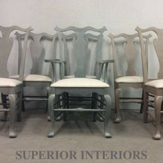 When new clients come into our shop and tell us how much they liked a set of chairs we refinished a month ago. Here's the chairs we refinished and sold as… Patio Dining, Dining Set, Dining Chairs, Desk Chairs, Dining Table, Dining Chair Makeover, Furniture Makeover, Oak China Cabinet, Restoration Hardware Table