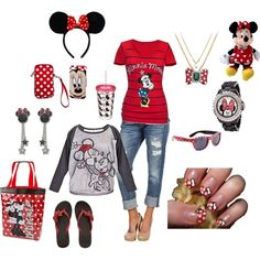 minnie mouse outfit, created by lwilkinson -Get Free Ray Ban Sunglasses For Gift Now. Cute Disney Outfits, Disney Themed Outfits, Disney Dresses, Disney Clothes, Disney Shirts, Disneybound Outfits, Outfits Niños, Cool Outfits, Disney Couture