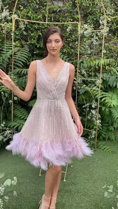 Prom Dresses Long Pink, Dress Prom, Cute Dresses, Short Dresses, Skirt Fashion, Fashion Dresses, Evening Gowns Couture, Sunday Dress, Frocks For Girls