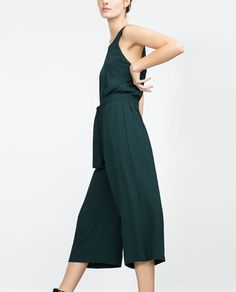 Image 3 of FANCY CROPPED JUMPSUIT from Zara