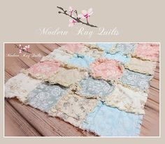 Ready To Ship   Modern Rag Quilt    Beach Quilt by modernragquilts