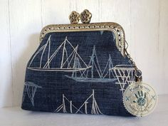 Ahoy Sailor! purse, 8,5 cm by ManoFactured on Etsy