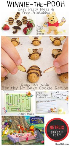 Winnie-the-Pooh-Free-Printables-Easy-Party-Pin-from-BrenDid http://brendid.com/winnie-the-pooh-party-healthy-honey-bee-no-bake-cookies/ #Netflix