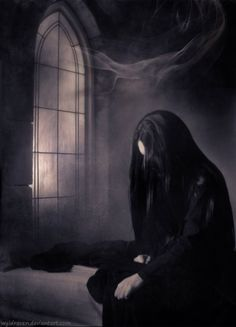 Vanimórë, Tol-in-Gaurhoth.  http://wyldraven.deviantart.com/art/After-The-Night-277294251 - from my Middle Earth - Misc. I love this character. This is such a sad picture though
