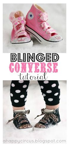 Blinged Converse Tutorial by A Happy Circus