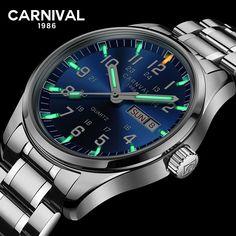 a617b11f1acf Carnaval de la marca de lujo de tritio T25 luminosa reloj militar Suiza  cuarzo de los