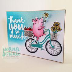 Juana Ambida | This Little Piggy says Thanks | Bike Ride, Stampin up