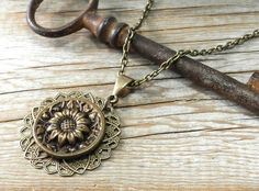 Antique Button Jewelry Victorian Button by CompassRoseDesign, $39.00