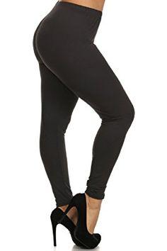 0f2b12053308a6 Leggings Depot Ultra Soft Women's Printed Plus Fashion Leggings 3X-4X B2 ( Black) at Amazon Women's Clothing store: