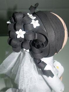 Mi Pequeño Rincón Foam Crafts, Doll Hair, I Party, Baby Car Seats, Marie, Creations, Dolls, Children, Diy