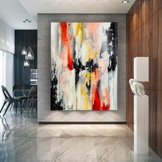 Original Abstract Painting Large Canvas Art Oversized Wall image 4 Colorful Artwork, Colorful Paintings, Large Canvas Art, Large Painting, Office Wall Art, Home Wall Art, Oversized Wall Art, Extra Large Wall Art, Modern Wall Decor