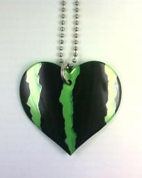 Funky Junq Recycled Aluminum Soda Pop Can Art  Heart NECKLACE GREEN MONSTER Energy Drink $6.00
