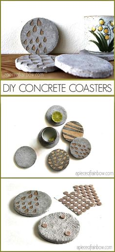 Cement Home DIY Concrete Ideas For A Chic Minimal Design. Concrete Modular Geometric Wall Planters: 6 Steps With . 65 Easy To Do Handmade DIY Cement Crafts You Can Make Quickly. Home Design Ideas Concrete Cement, Concrete Design, Decorative Concrete, Diy Projects To Try, Craft Projects, Sewing Projects, Sous Bock, Concrete Jewelry, Beton Diy