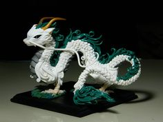 Haku by on DeviantArt Polymer Clay Dragon, Cute Polymer Clay, Polymer Clay Projects, Polymer Clay Sculptures, Sculpture Clay, Small Dragon Tattoos, Clay Monsters, Dragon Pictures, Zodiac Art
