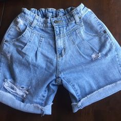 CARMAR light denim shorts size 25! High waisted boyfriend-fit jean shorts. Just in time for summer :) CARMAR CARMAR Shorts Jean Shorts