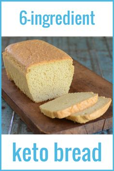 OK Fluffy Keto Bread with 6 ingredients -- almond flour eggs egg white protein salt baking soda cream of tartar. Best Keto Bread, Low Carb Bread, Low Carb Keto, Bread Diet, Almond Flour Bread, Almond Flour Recipes, Ketogenic Recipes, Low Carb Recipes, Cooking Recipes