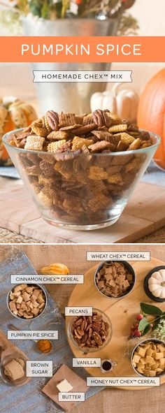 Put the pie dish away! That stash of Pumpkin Spice can be used in this favorite homemade Chex Mix. Mix up your favorite Chex cereals with some pumpkin spice, butter, pecans and voila! All the flavors of Fall in a crunchy snack. Perfect for getting cozy with the cooler weather.