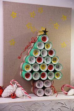 adventskalender aus klorollen selbst basteln oskar zimmer pinterest xmas advent calendars