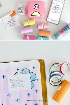 The PoooliPrint Pocket Printer Review including 5 ways you can use your thermal pocket printer with your art journal Bullet Journal Contents, Bullet Journal Layout, Bullet Journal Inspiration, Journal Ideas, Bullet Journal Printables, Journal Template, Diy Craft Projects, Craft Ideas, Diy Ideas