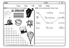 Fichas infantiles para aprender a leer y aprender a
