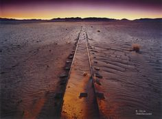 Obie Oberholzer - Deserted train tracks between Aus & Luderitz, Namibia Land Of The Brave, My Land, Africa Travel, Us Travel, Amazing Places On Earth, Namibia, Train Tracks, Ghost Towns, Places Ive Been