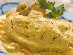 Receta de Pechugas de Pollo en Salsa de Almendras