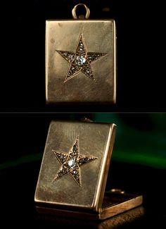 1890s Victorian Diamond Star Locket
