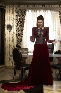 Regina's velvet dress - Once Upon A Time. The costume designer of this show deserves mad respect!