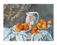 Still Life with Tablecloth by Cezanne