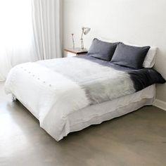 Dip Dye Grey Linen Duvet Cover – Double from French Linen de Luxe - R1,199 (Save 46%)