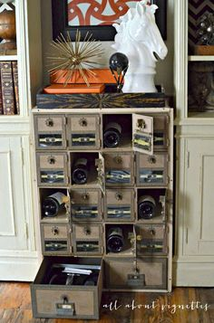 How I Re-purposed and Styled  Vintage Post Offices Boxes
